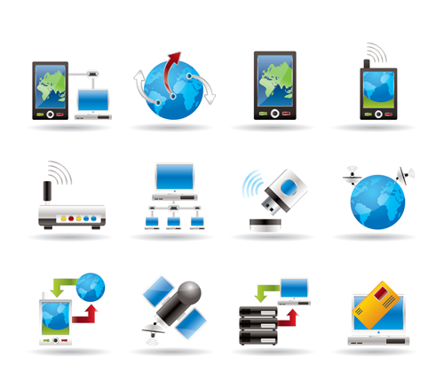 free vector Sophisticated technology blue icon 02 vector