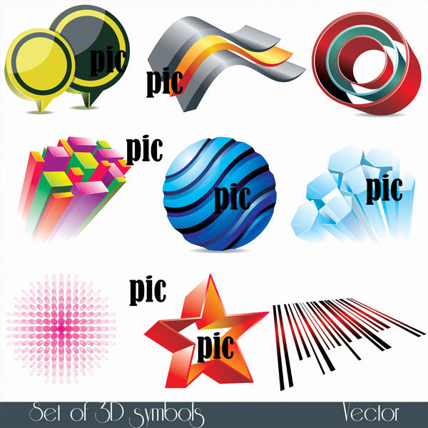 free vector Sophisticated threedimensional icon vector
