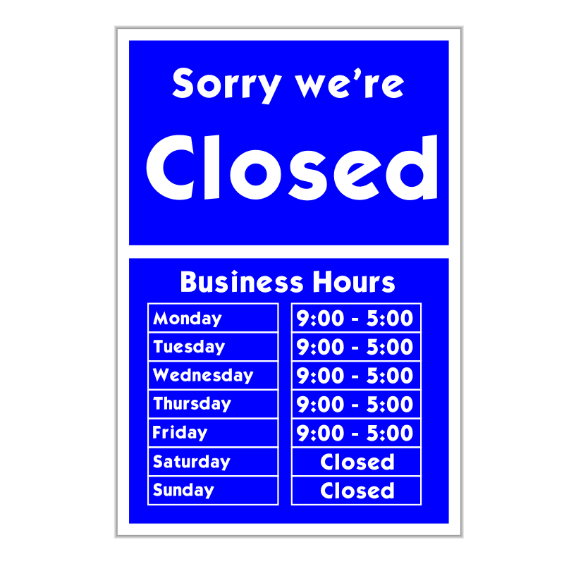free vector Sorry we're closed