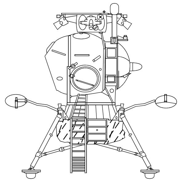 free vector Soviet Lunar Lander clip art