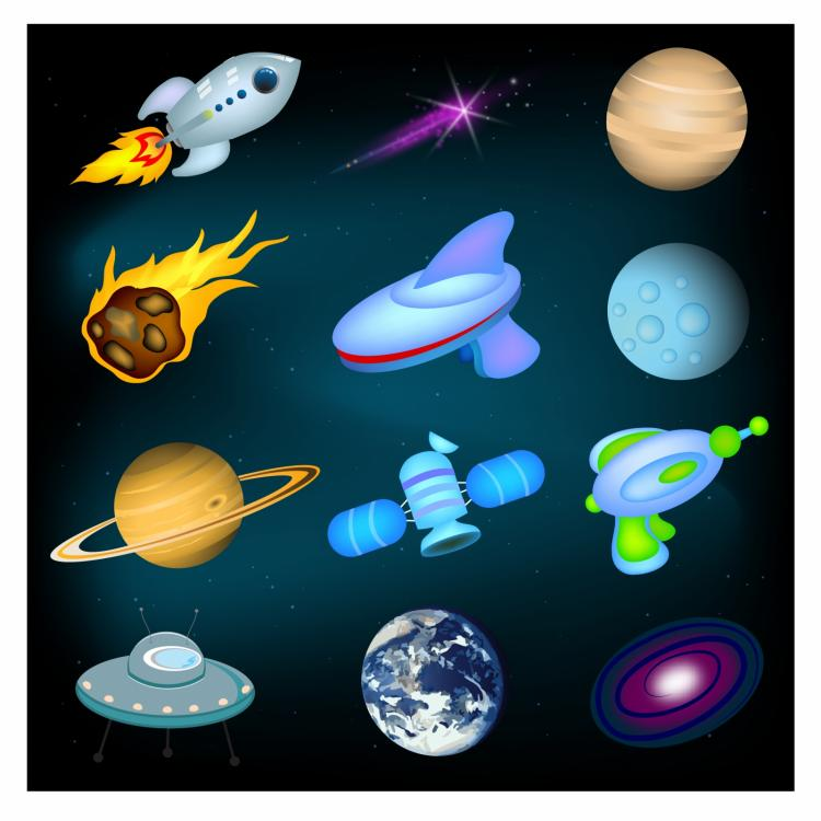 free vector Space icons
