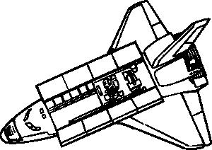 free vector Space Shuttle clip art