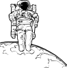 free vector Space Walk clip art