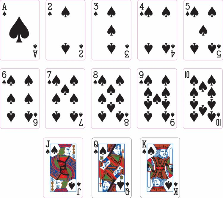 free vector Spade suit two playing cards