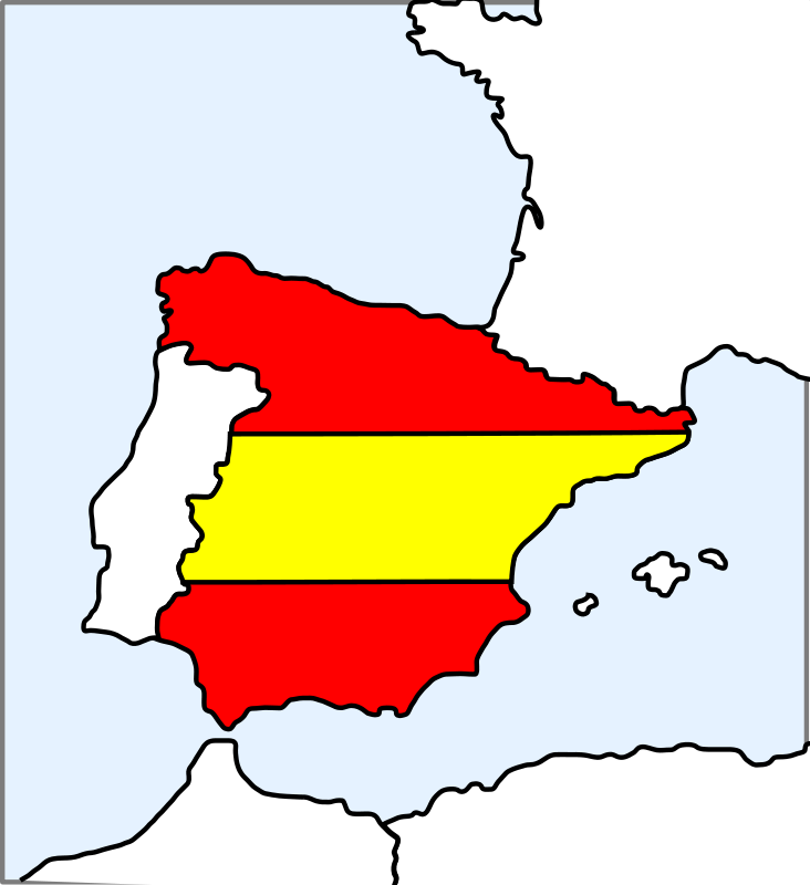 free vector Spain (map and flag)