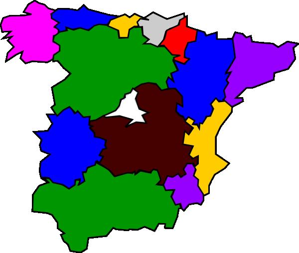 free vector Spanish Regions clip art