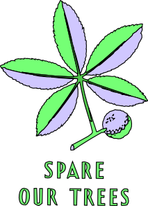 free vector Spare Our Trees clip art