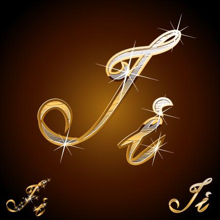 free vector Sparkling metallic handwritten letters vector