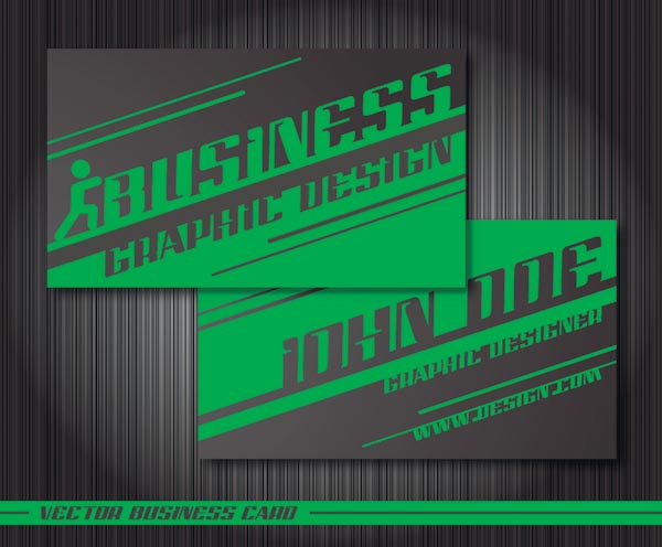 free vector Special business card template vector