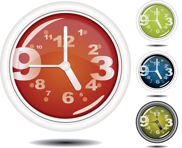 free vector Special clock vector