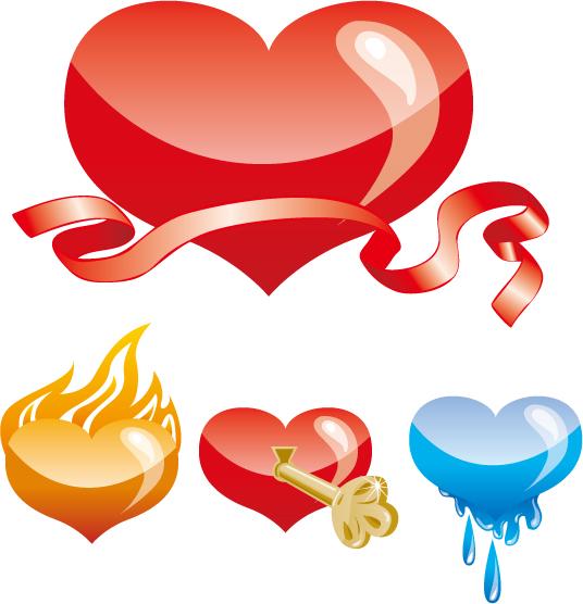 free vector Special heartshaped vector