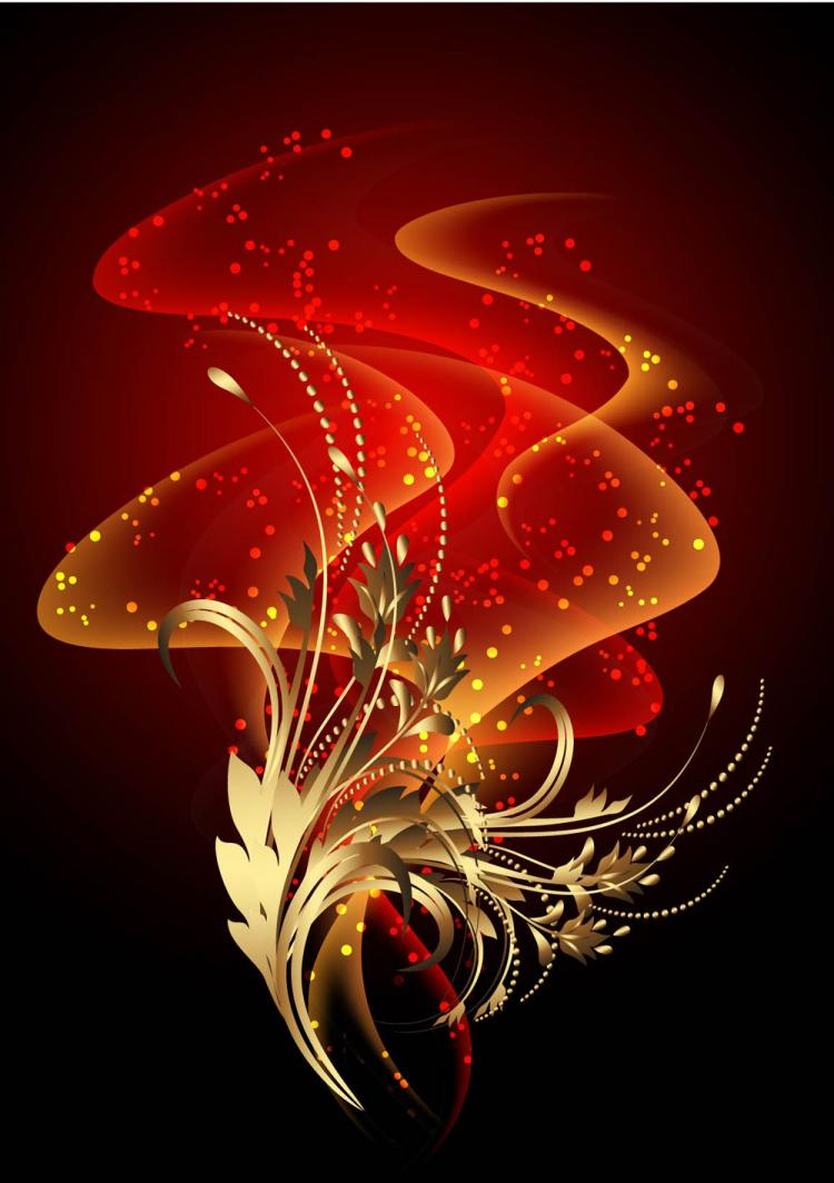 free vector Special hyun red halo background 05 vector