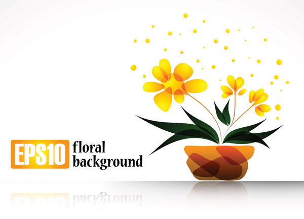 free vector Special plant flowers decorations vector