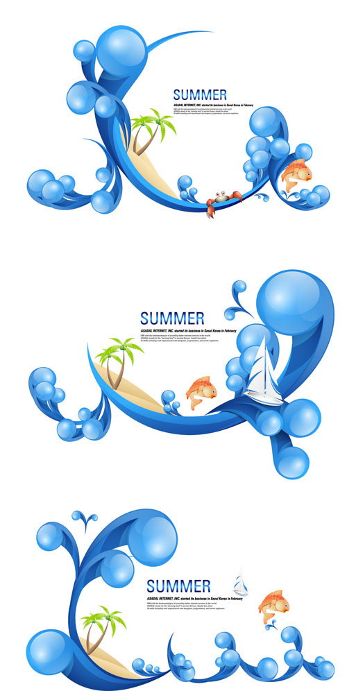 free vector Special summer theme vector