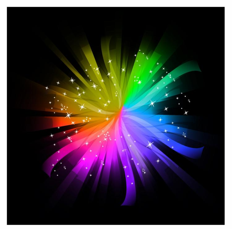 free vector Spectrum burst
