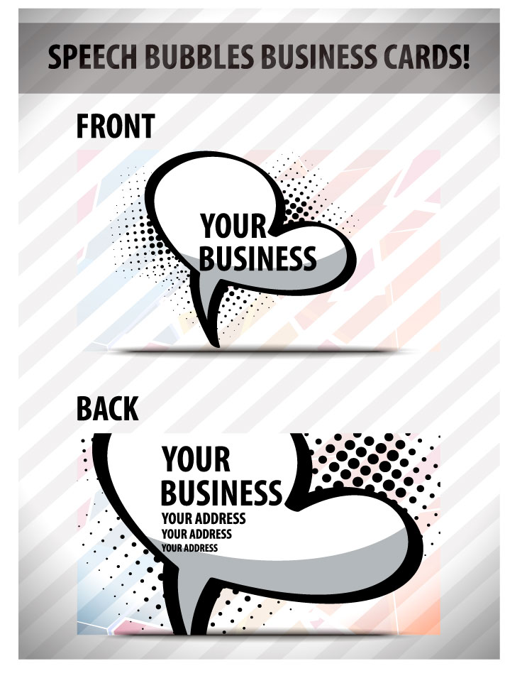 free vector Speech bubble cards 01 vector