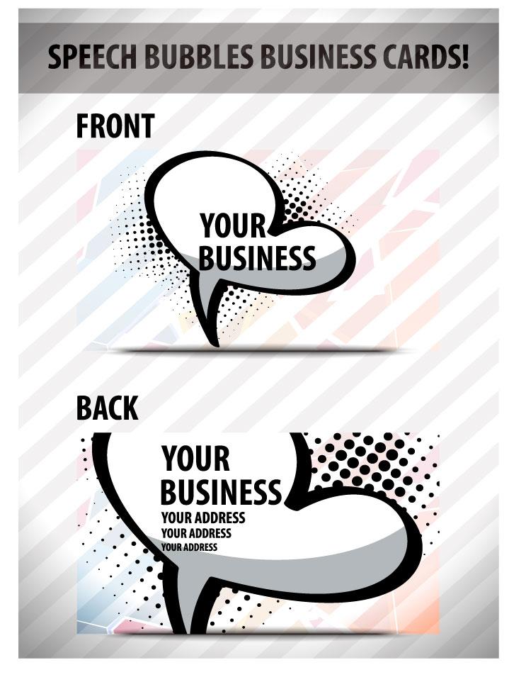 free vector Speech bubble cards 01 vector