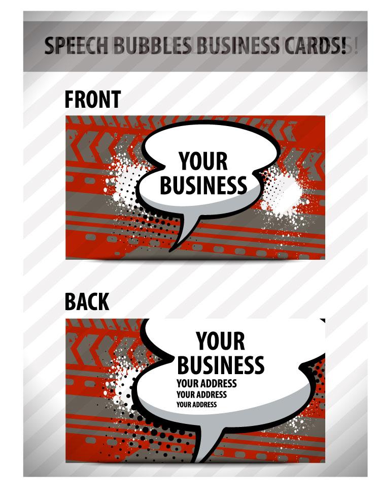 free vector Speech bubble cards 02 vector