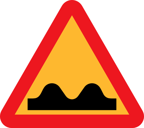 free vector Speed Bump Sign clip art