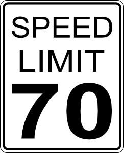 free vector Speed Limit clip art