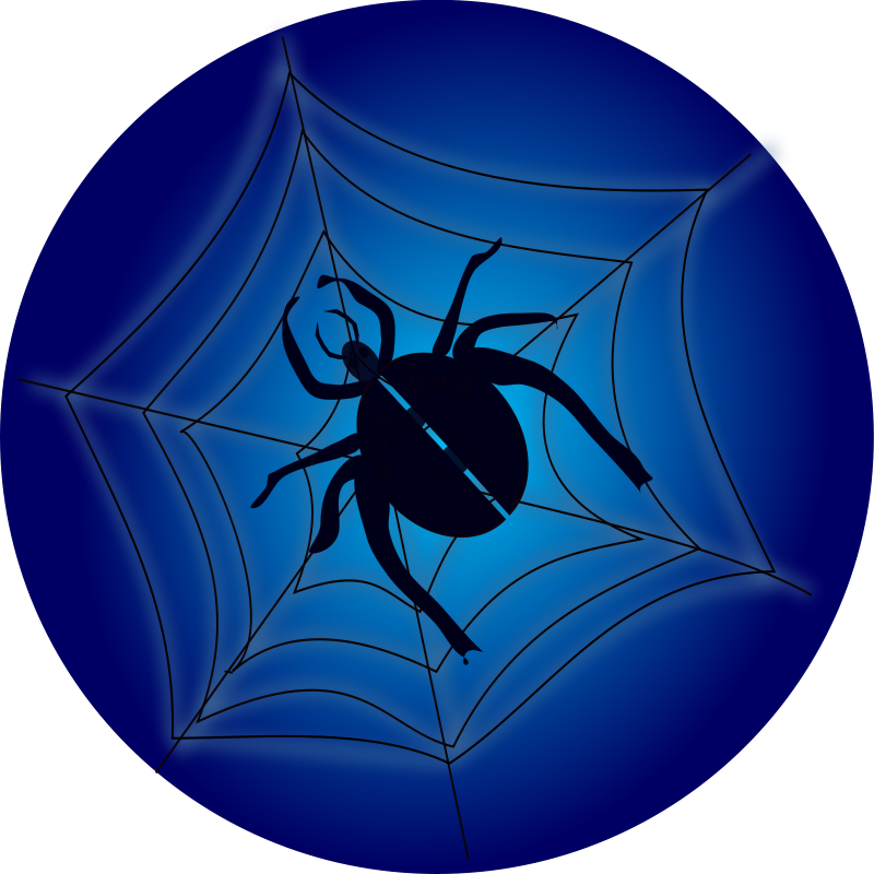 free vector Spider_on_web