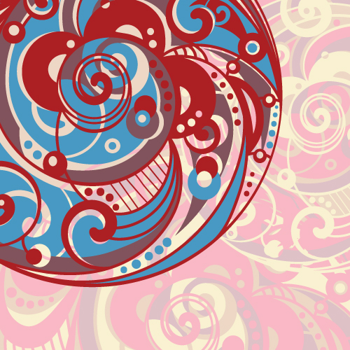 free vector Spiral pattern background 03 vector