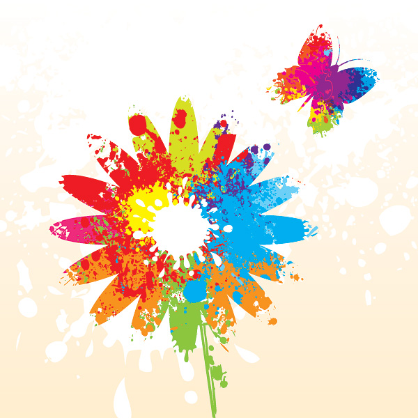 free vector Splash of color pattern 03 vector