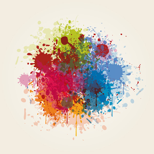 free vector Splash of color pattern 05 vector