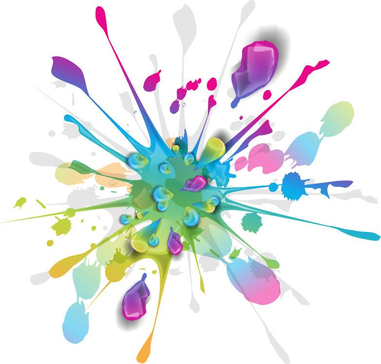 free vector Splashes of Colorful Ink Vector Art