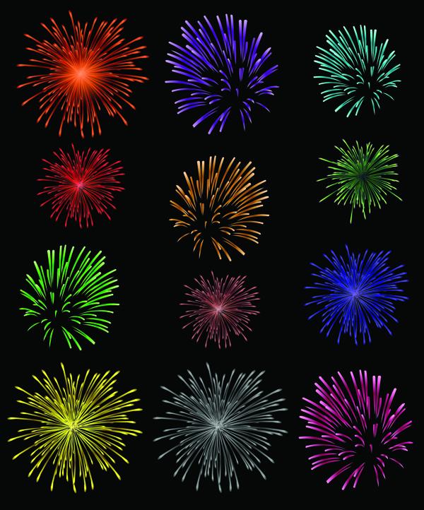 splendid fireworks fireworks vector 1 free vector 4vector rh 4vector com free vector fireworks white background free vector fireworks silhouette