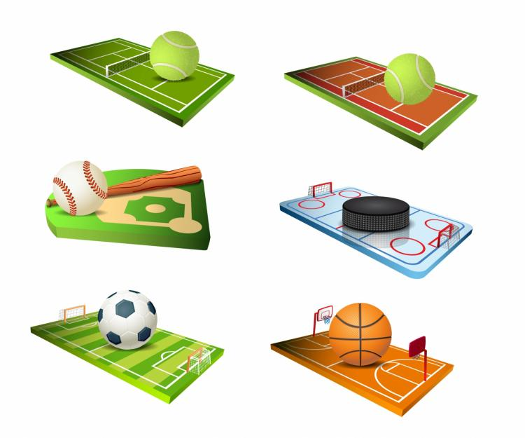 free vector Sport fields icons