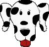 free vector Spotty Dog clip art