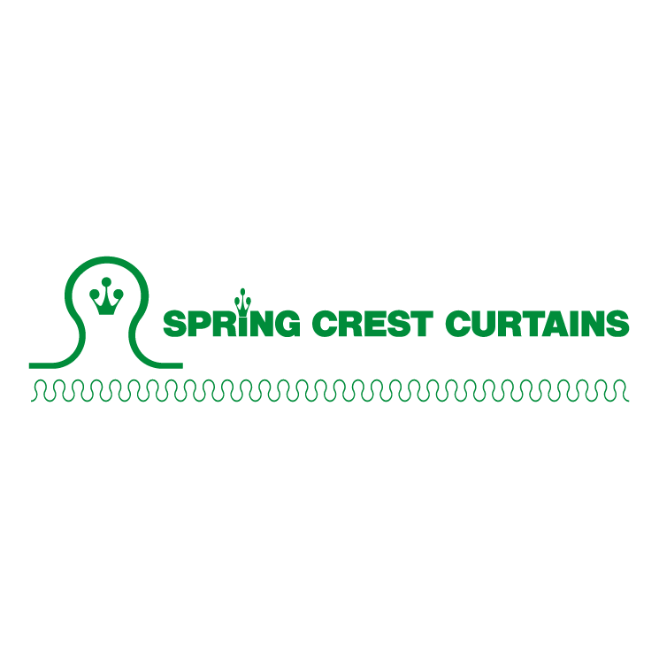 free vector Spring crest curtains