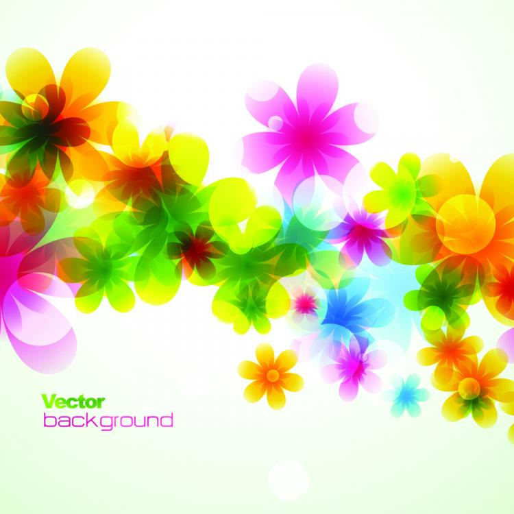 free vector Spring flowers background dream 01 vector