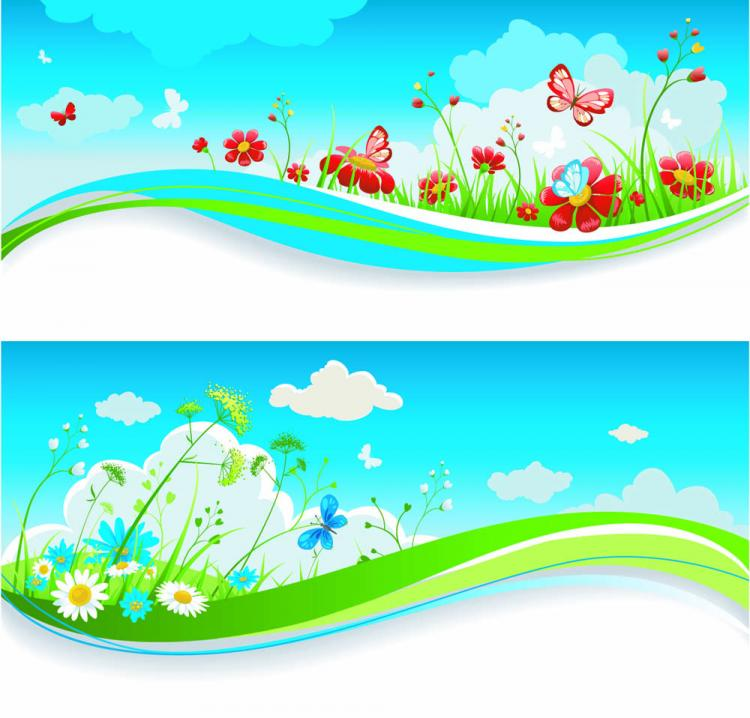 free vector Spring of banner03 vector