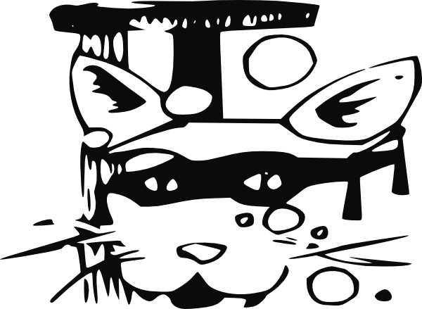 free vector Spy Cat clip art