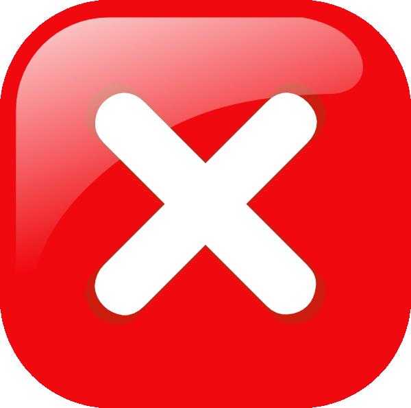 free vector Square Error Warning Button clip art