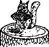 free vector Squirrel Eating Pine Cone clip art