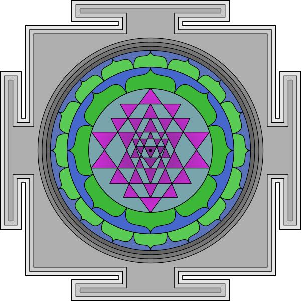 Sri Yantra clip art (110496) Free SVG Download / 4 Vector