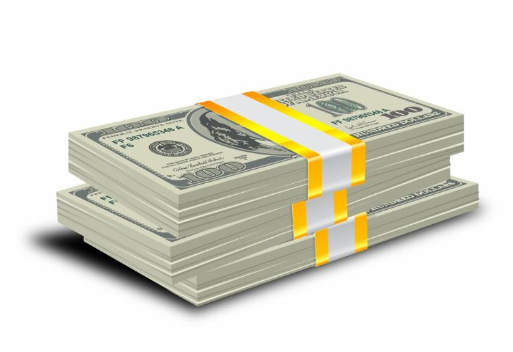 free vector Stack of dollars