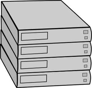 free vector Stacked Servers Without Rack clip art