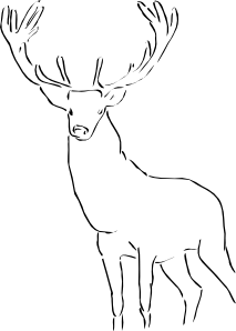 free vector Stag clip art
