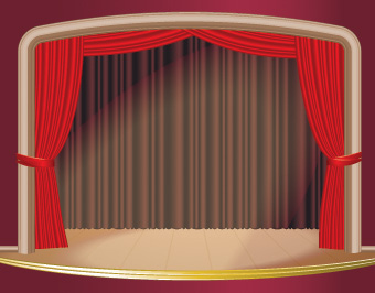 free vector Stage curtain vector
