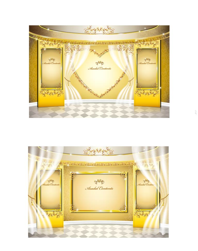 free vector Stage gold pattern vector