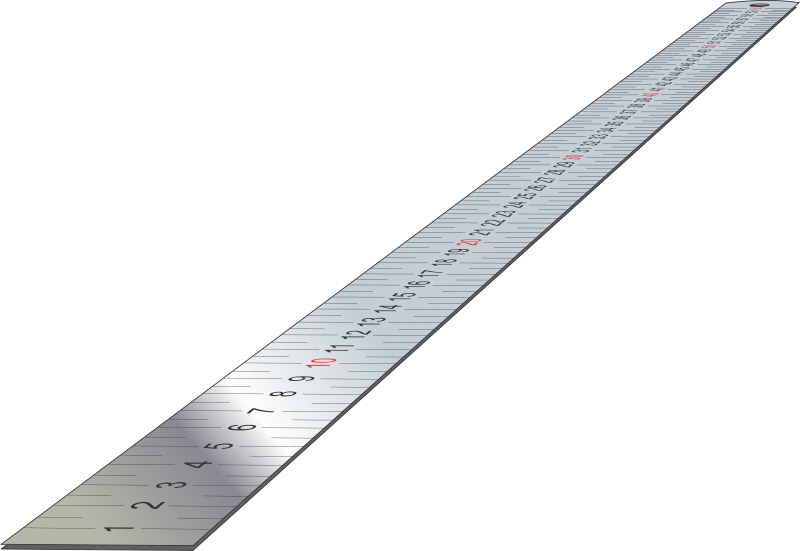 free vector Stainless Steel Ruler (perspective)