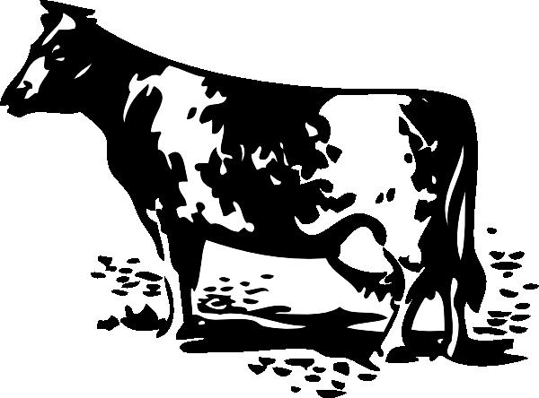 free vector Standing Cow clip art