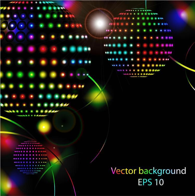 free vector Star bright neon lights vector
