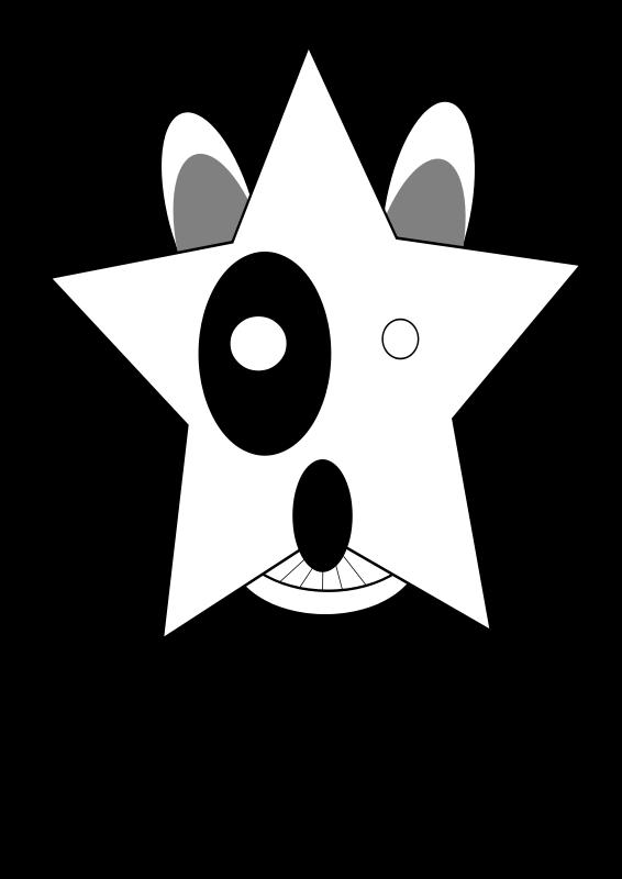free vector Star,Bullterrier head, bujung,Bull terrier cartoon,dog Bullterrier