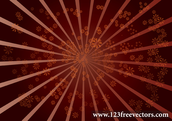 free vector Star Burst Flower Background