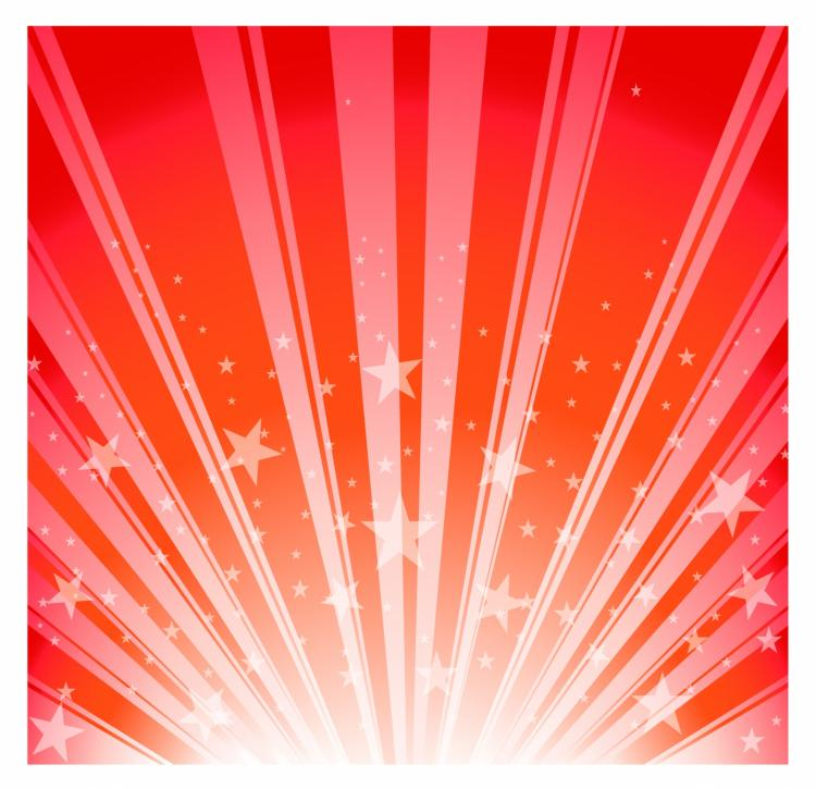 free vector Star burst - red